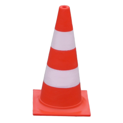 Fluorescent traffic cone 50 cm